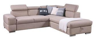SEDEŽNA GARNITURA,  bež tekstil - krom/bež, Design, tekstil (255/230cm) - Xora