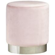 HOCKER Samt Rosa, Chromfarben  - Chromfarben/Rosa, Trend, Textil/Metall (35/40cm) - Xora