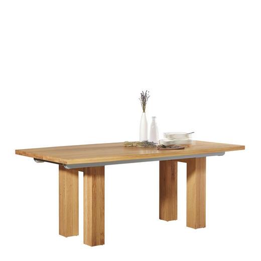 ESSTISCH Wildeiche massiv rechteckig Eichefarben - Eichefarben, Design, Holz (190/100/76cm) - Venjakob