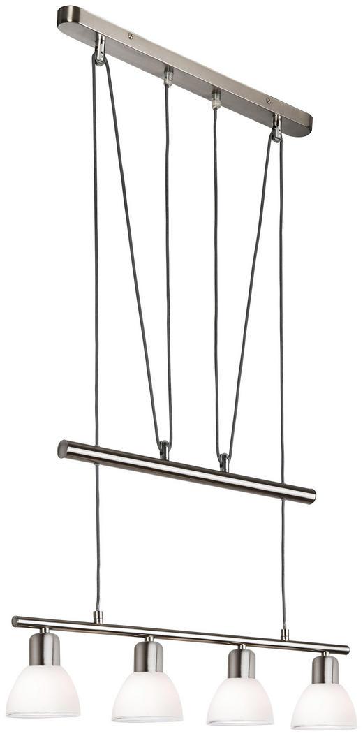 LED-PENDELLAMPA - vit, Design, metall/glas (70/160cm) - Novel