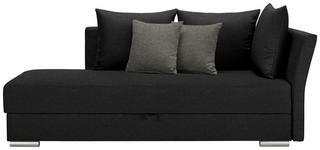 LIEGE in Textil Schwarz - Chromfarben/Schwarz, Design, Kunststoff/Textil (220/93/100cm) - Xora