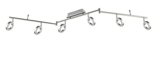 LED-STRAHLER - Nickelfarben, Design, Metall (9/18,5/150cm) - Novel