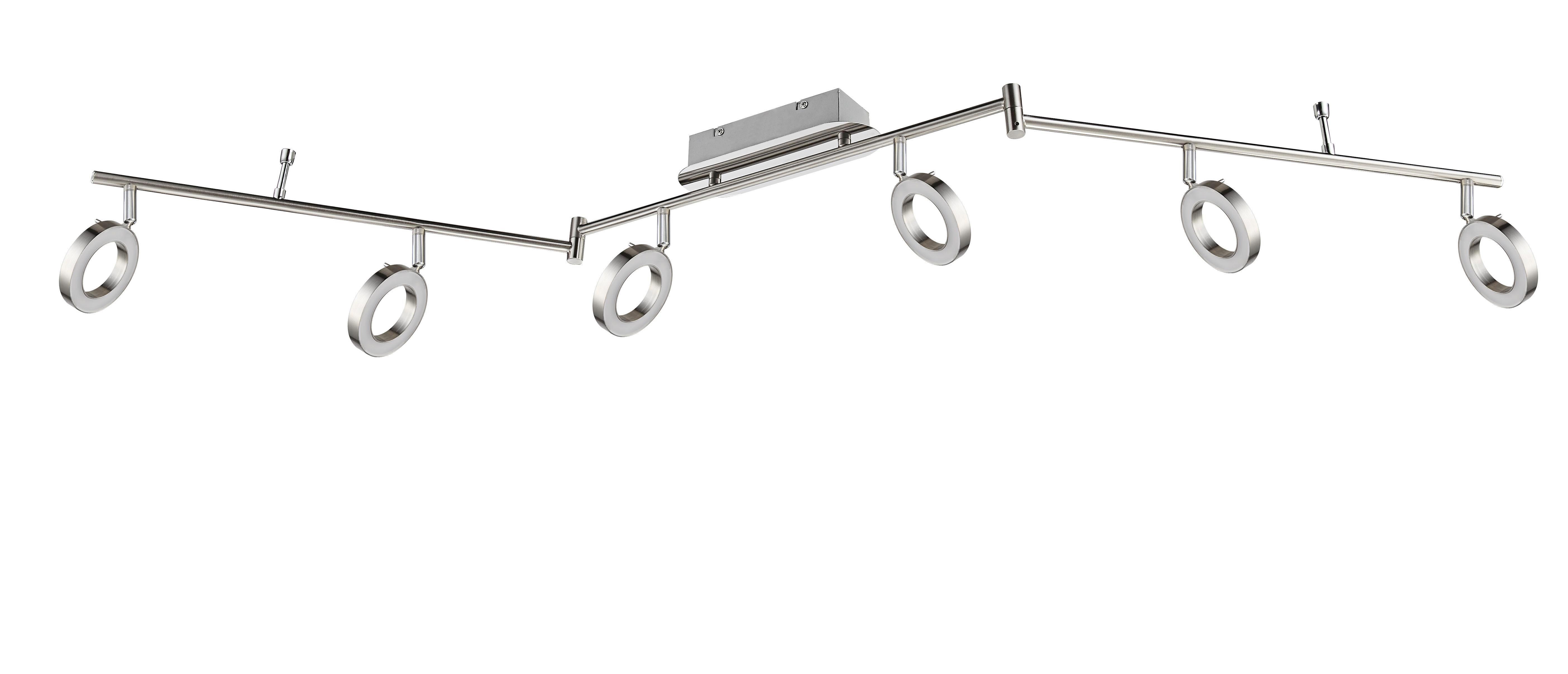 LED SVÍTIDLO - barvy niklu, Design, kov (9/18,5/150cm) - NOVEL