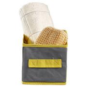 BOX Textil Grau - Grau, Textil (28/14/13cm)