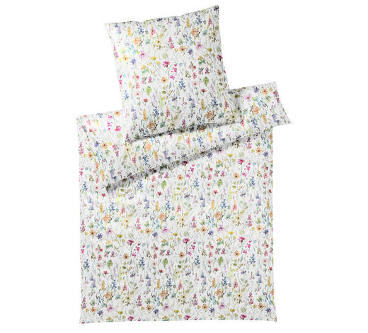 BETTWÄSCHE Batist Multicolor, Weiß 135/200 cm  - Multicolor/Weiß, Design, Textil (135/200cm) - Elegante