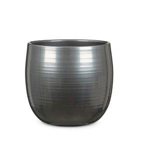 YTTERKRUKA - rostfritt stål-färgad, Klassisk, keramik (15/15/14cm)
