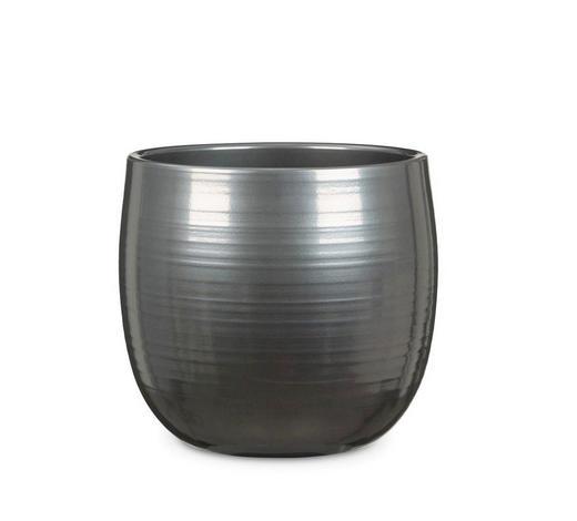 PFLANZENTOPF - Edelstahlfarben, KONVENTIONELL, Keramik (25/25/23cm)