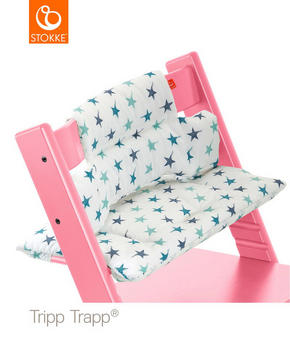 Stokke Tripp Trapp Dyna - vit/turkos, Trend, textil (28/21/7cm) - Stokke