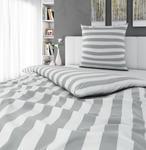 BETTWÄSCHE Satin Silberfarben, Weiß 135/200 cm - Silberfarben/Weiß, KONVENTIONELL, Textil (135/200cm) - Novel