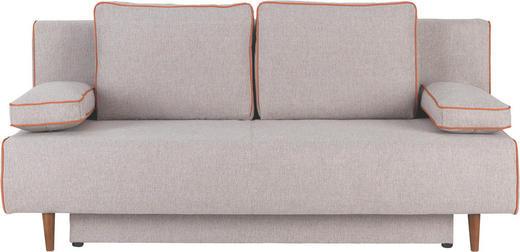 SCHLAFSOFA Webstoff Beige, Orange - Beige/Buchefarben, Design, Holz/Textil (192/85/90cm) - NOVEL