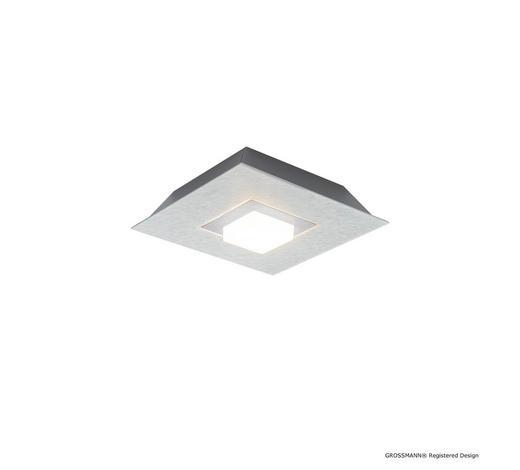 LED-DECKENLEUCHTE - Titanfarben, Design, Metall (20/20/5,7cm) - Großmann