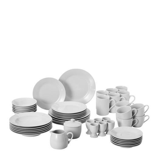 Porzellan  KOMBISERVICE 50-teilig - Weiß, Basics, Keramik - Boxxx