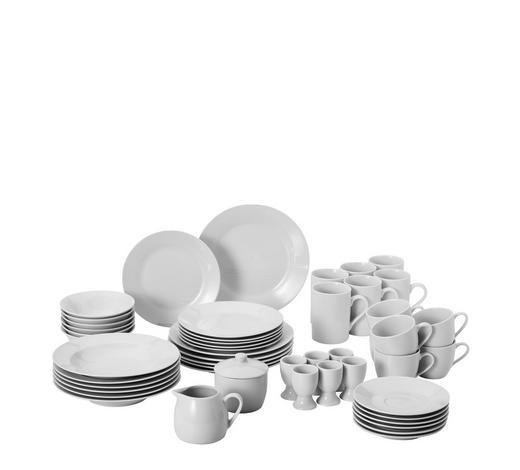 KOMBISERVICE 50-teilig  - Weiß, Basics, Keramik - Homeware
