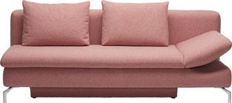 SCHLAFSOFA Rosa - Alufarben/Rosa, Design, Textil/Metall (213/90/94cm) - DIETER KNOLL