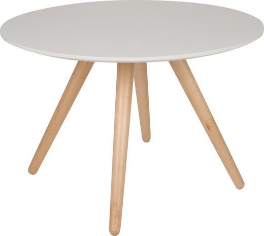 BEISTELLTISCH Hellbraun, Weiß - Hellbraun/Birkefarben, Design, Holz (75/50cm)