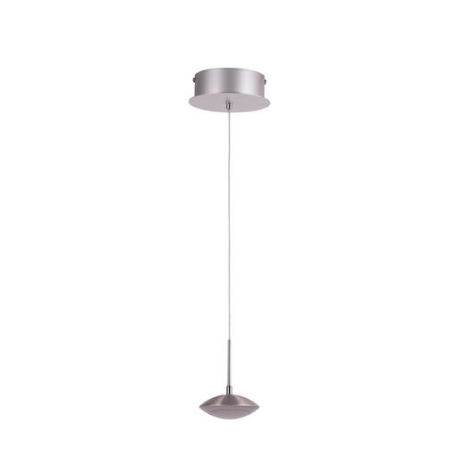 LED-HÄNGELEUCHTE - Alufarben/Weiß, LIFESTYLE, Kunststoff/Metall (10/200cm)