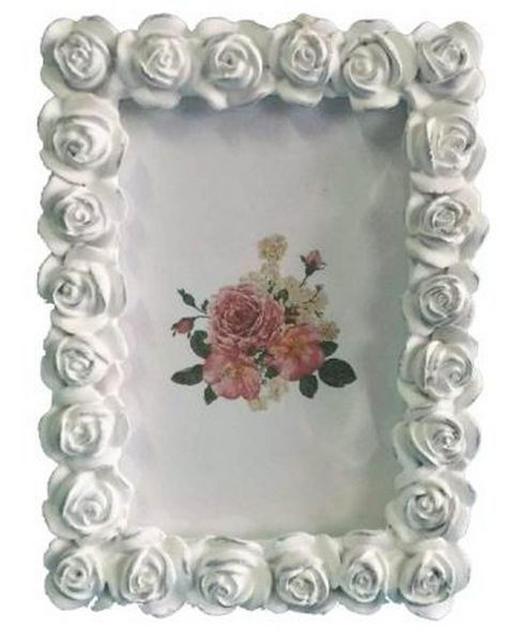 FOTORAHMEN  Weiß - Weiß, Basics, Glas/Kunststoff (15,5/20,5cm) - Ambia Home