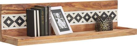 WANDBOARD in 100/25/25 cm Sheeshamfarben  - Sheeshamfarben, Design, Holz/Kunststoff (100/25/25cm) - Landscape