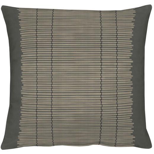 KISSENHÜLLE Braun, Schwarz 49/49 cm - Schwarz/Braun, Basics, Textil (49/49cm)