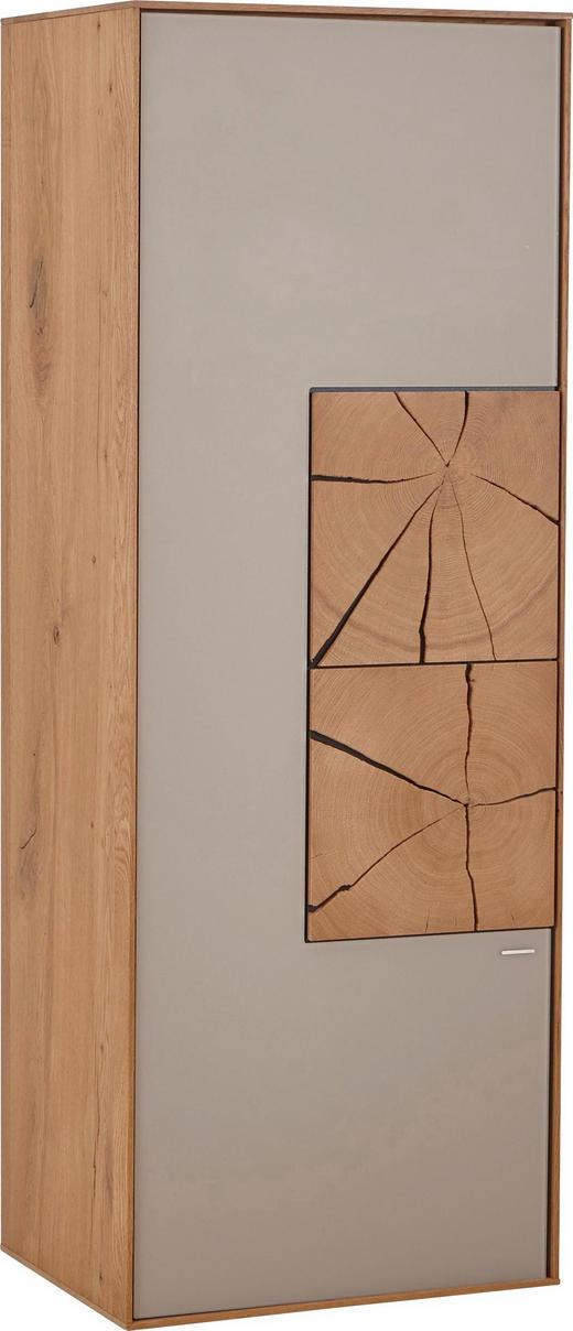 HÄNGEELEMENT Kerneiche vollmassiv Eichefarben, Fango - Fango/Eichefarben, Design, Glas/Holz (50/137/39cm) - Valnatura