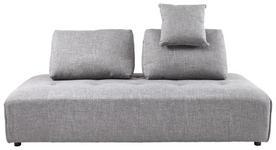 DREISITZER-SOFA Grau - Grau, KONVENTIONELL, Textil/Metall (210/88/105cm) - Cantus