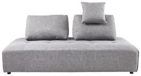 DREISITZER-SOFA in Textil Grau - Schwarz/Grau, KONVENTIONELL, Kunststoff/Textil (210/88/105cm) - Cantus