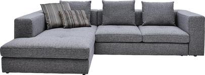 WOHNLANDSCHAFT in Textil Grau - Schwarz/Grau, Design, Kunststoff/Textil (194/304cm) - Dieter Knoll