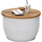 COUCHTISCH in Naturfarben, Weiß - Naturfarben/Weiß, Trend, Holz/Metall (58/40cm) - Ambia Home