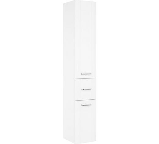 HOCHSCHRANK Weiß  - Chromfarben/Weiß, KONVENTIONELL, Glas/Holzwerkstoff (30/182/38cm) - Xora