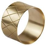 SERVIETTENRING   - Goldfarben, Design, Metall (4,5/2,75cm) - Ambia Home