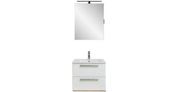 BADEZIMMER - Eichefarben/Weiß, Design, Glas/Holzwerkstoff (60cm) - Dieter Knoll