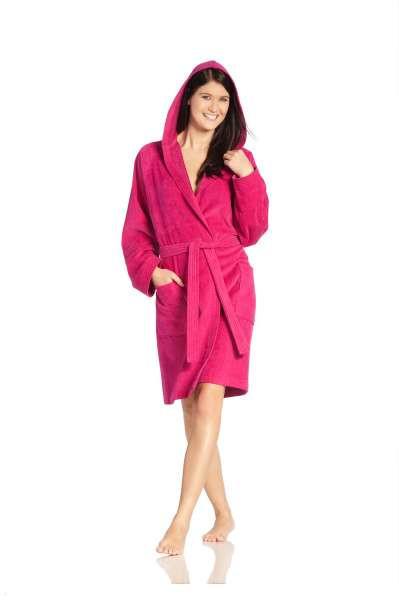 BADEMANTEL  Beere - Beere, Basics, Textil (L) - VOSSEN