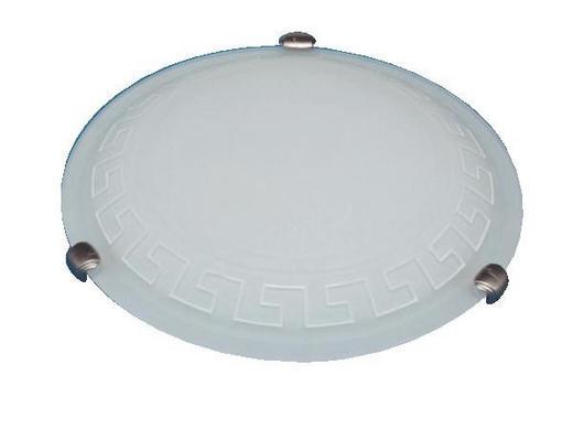 DECKENLEUCHTE - Dunkelbraun/Weiß, LIFESTYLE, Glas/Metall (30cm)