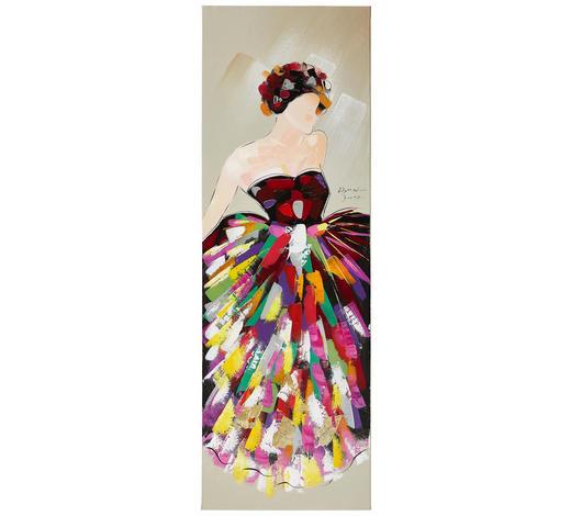 ÖLGEMÄLDE  - Multicolor, LIFESTYLE, Holz/Textil (40/120cm) - Monee