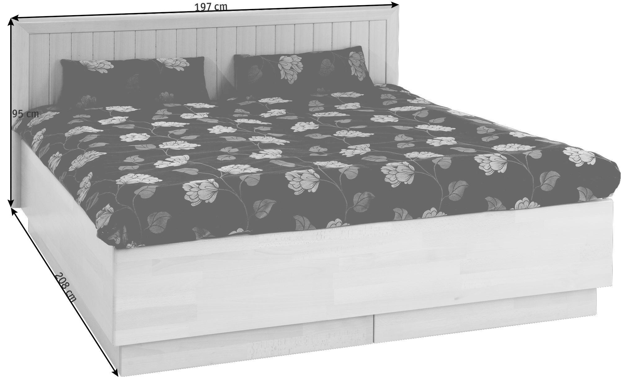 BETT 180 cm   x 200 cm   in Holz Buchefarben - Buchefarben, KONVENTIONELL, Holz (180/200cm) - NOVEL