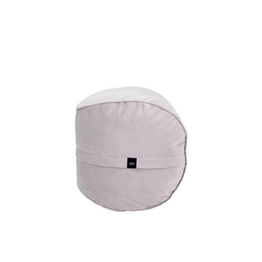 POUF Samt Hellgrau - Hellgrau, Basics, Textil (60/45cm)