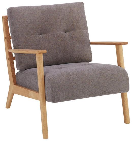 SESSEL in Holz, Textil Grau, Eichefarben - Eichefarben/Grau, Design, Holz/Textil (76/78/80cm) - Lomoco