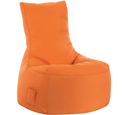 SITZSACK in Textil Orange - Orange, Design, Textil (95/90/65cm)