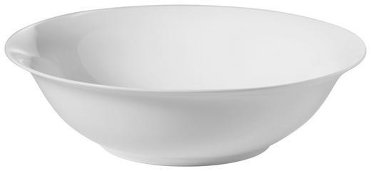 SALATSCHÜSSEL Bone China Keramik - Weiß, Basics, Keramik (23cm) - Novel