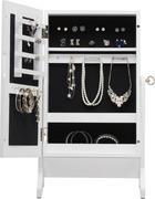 SKŘÍŇKA NA ŠPERKY - bílá/černá, Basics, dřevěný materiál/sklo (34,5/60/23cm) - XORA