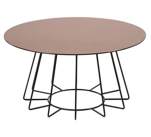 BEISTELLTISCH in Metall, Glas  80/40 cm - Schwarz/Bronzefarben, Trend, Glas/Metall (80/40cm) - Ambia Home