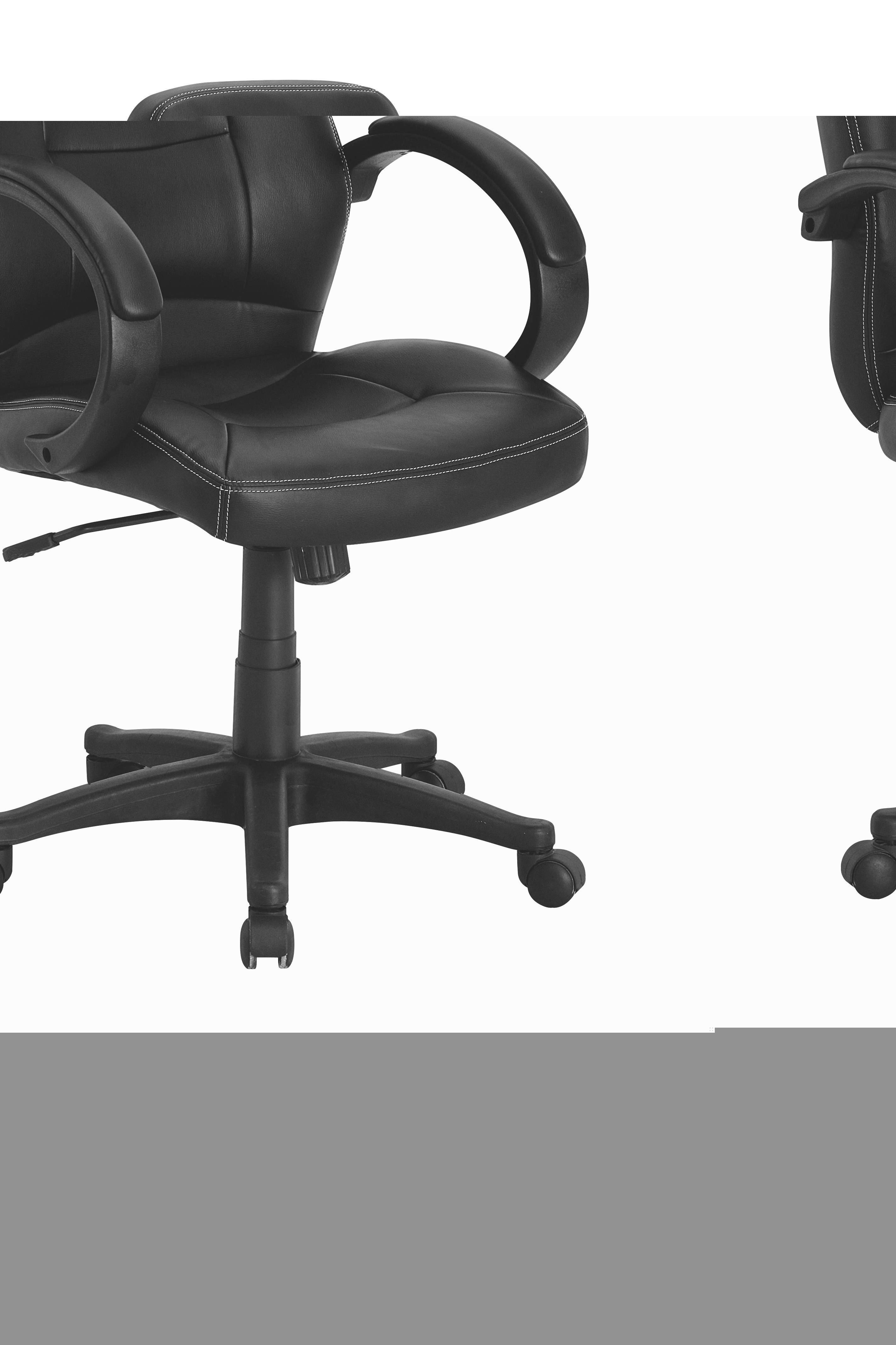 UREDSKA STOLICA - bijela/crna, Design, metal/tekstil (60/108-117,5/66cm) - XORA