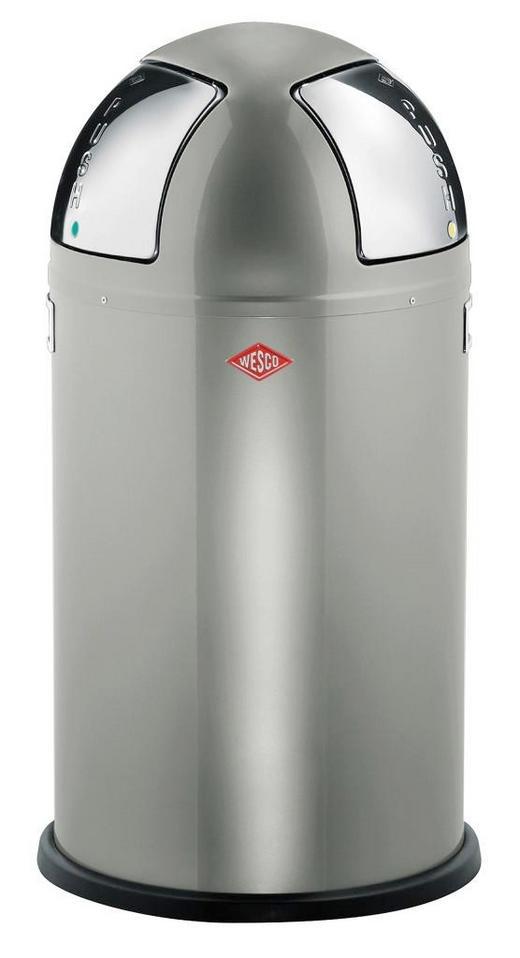 ABFALLSAMMLER PUSH TWO 2x25 L - Edelstahlfarben/Silberfarben, Kunststoff/Metall (40/75,5cm) - Wesco
