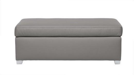 TABURET - šedá/barvy chromu, Design, dřevo/textil (120/41/60cm) - Carryhome