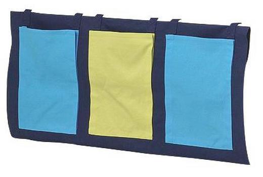 BETTTASCHE Dunkelblau, Grün, Hellblau - Dunkelblau/Hellblau, Design, Textil (38/93/1cm) - Carryhome