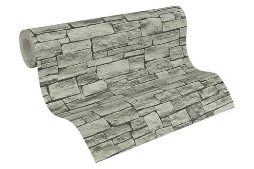 Vliestapete in steinopktik 10,05 m - Hellgrau/Grau, LIFESTYLE, Textil (53/1005cm)