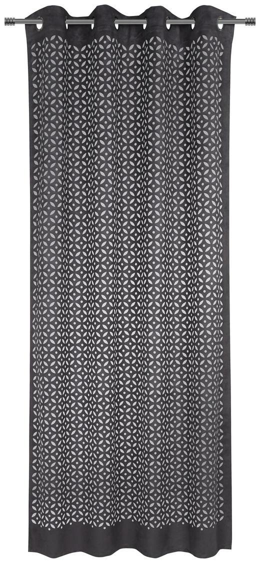 ÖSENVORHANG halbtransparent - Dunkelgrau, Trend, Textil (135/245cm) - Esposa