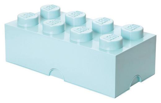AUFBEWAHRUNGSBOX 50/25/18 cm - Hellblau, Trend, Kunststoff (50/25/18cm) - Lego