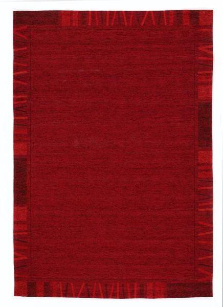 FLACHWEBETEPPICH  70/140 cm  Dunkelrot - Dunkelrot, LIFESTYLE, Textil (70/140cm) - Novel