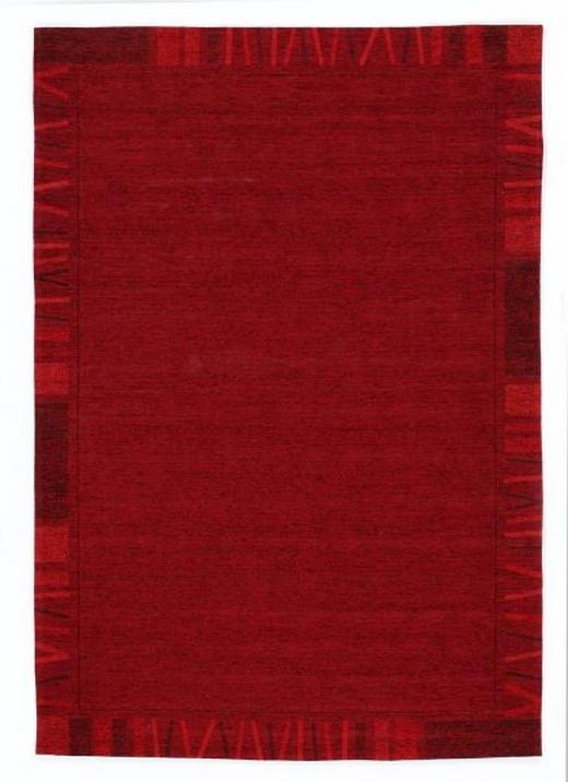 FLACHWEBETEPPICH   Dunkelrot - Dunkelrot, LIFESTYLE, Textil (70/140cm) - Novel
